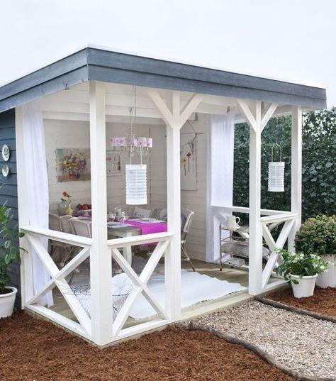 Lieblich Im Freien Leben Mit Diesen 13 Ideen Für Terrassen, Überdachungen Und  Außenküchen!   DIY