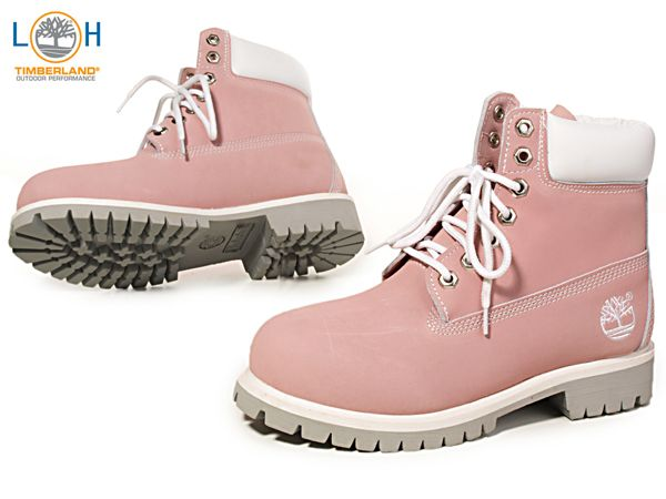 53697a17899f3 Timberland 6-Inch Cute Pink White Women s Boots   these boots are ...
