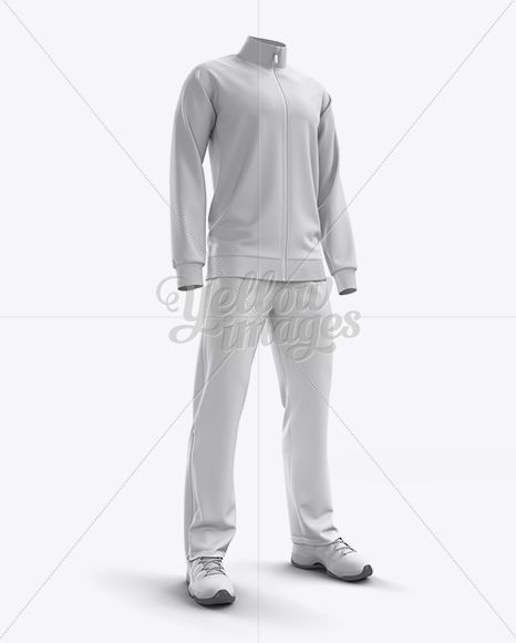 Download Men S Tracksuit Mock Up Half Side View In Apparel Mockups On Yellow Images Object Mockups Clothing Mockup Track Suit Men Mockup Free Psd