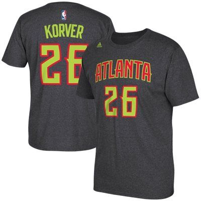 on sale fd311 8302d Kyle Korver Atlanta Hawks adidas Net Number T-Shirt - Gray ...