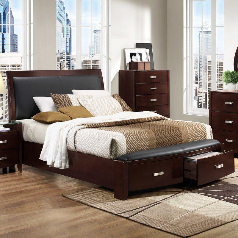 Rushmere Upholstered Storage Platform Bed Bedroom
