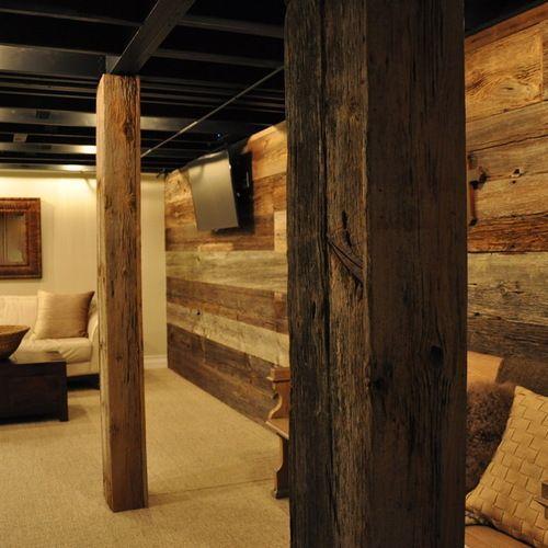 Rustic Basement Design Ideas, Pictures, Remodel & Decor