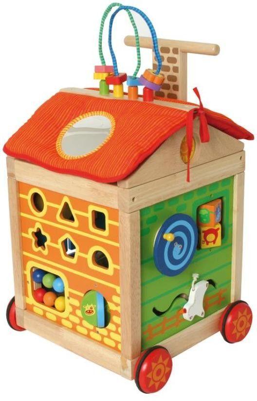 I`M Toy, Lauflernhilfe Multi Activity Walker mit vielen Motorikspielideen, Stoffteile waschbar