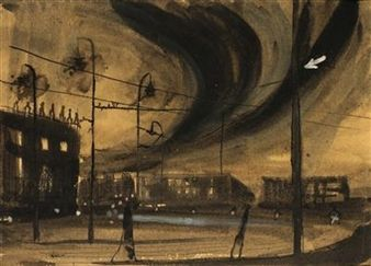 Early Evening on the Outskirts By Frantisek Hudecek ,1940