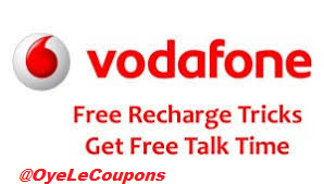 Vodafone Free Recharge Trick Hack Code :Get Free Talk time