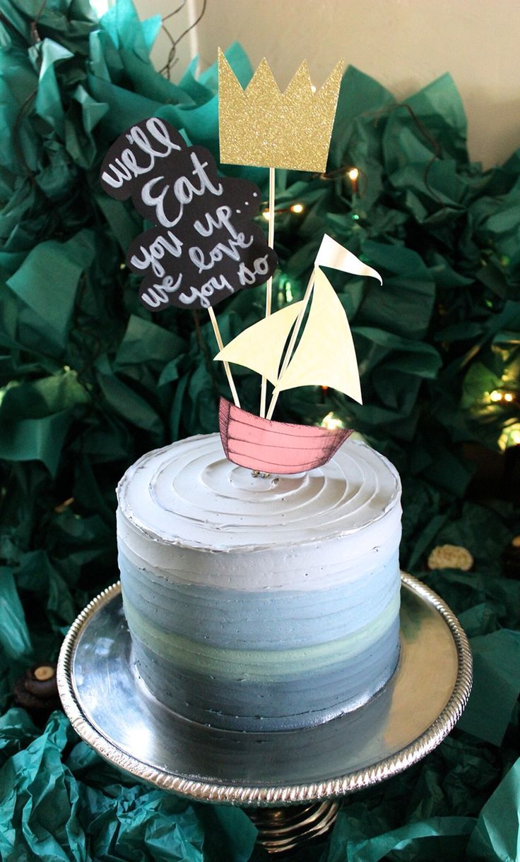 Adorable Cake For A Wild And Whimsical Themed Baby Shower