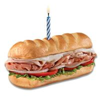 If you live close to a Firehouse Subs, count yourself lucky! Just show an I.D. on your birthday and you'll get a Free Firehouse Sub. Join their email club!