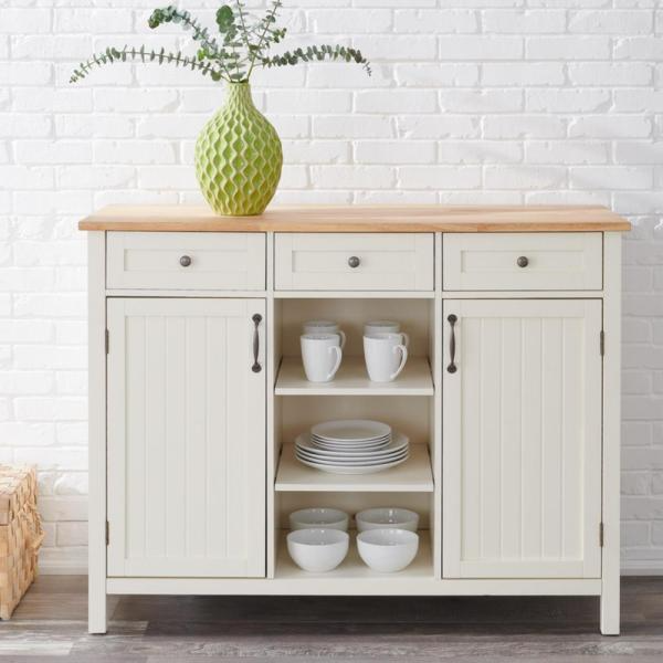 Stylewell Bainport Ivory Wood Kitchen Island With Natural Butcher Block Top 47 5 In W X 36 In H Sk19238d In 2020 Wood Kitchen Island Wood Kitchen Butcher Block Top
