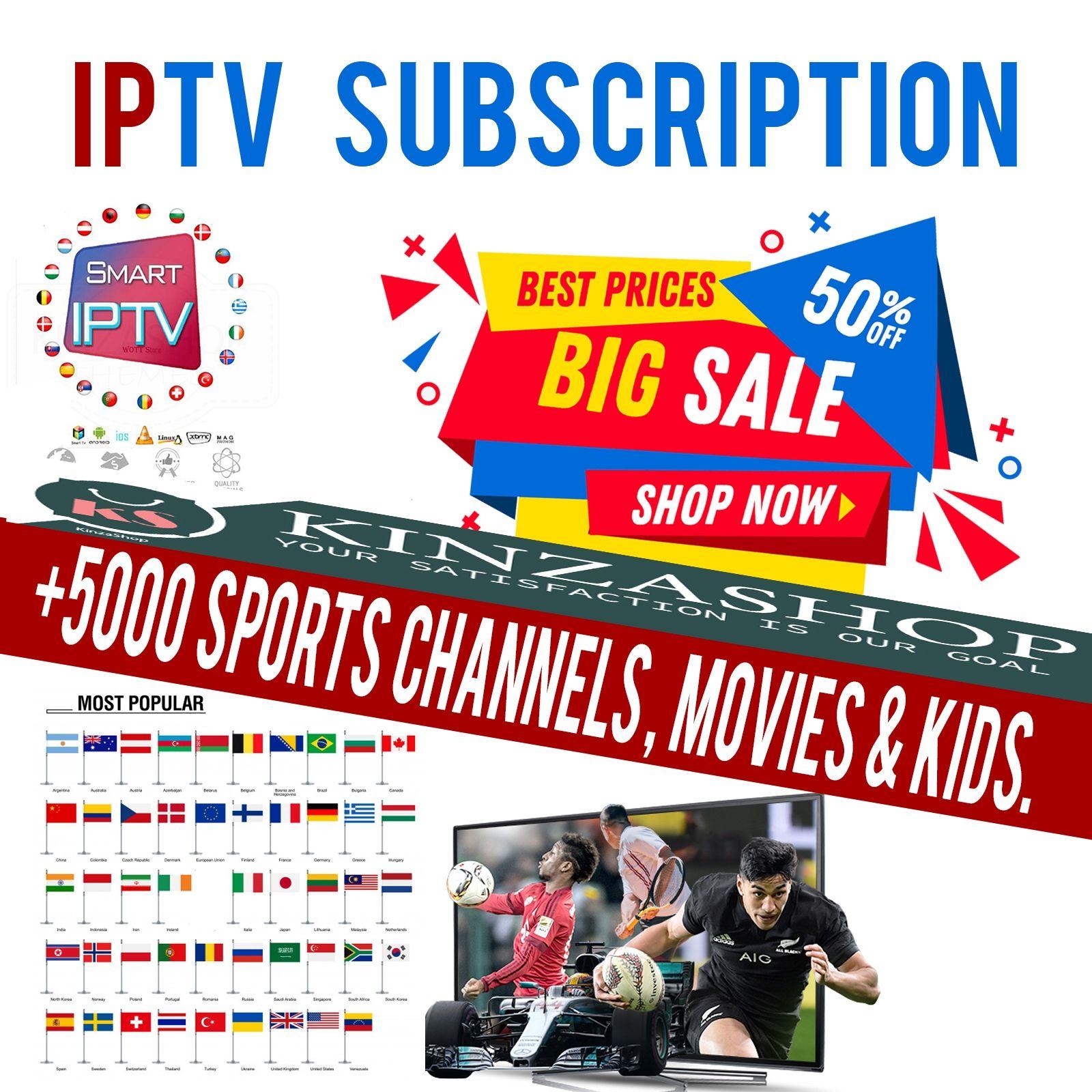 12 Month IPTV Subscription US & Uk & FR & CANADA & Arabic
