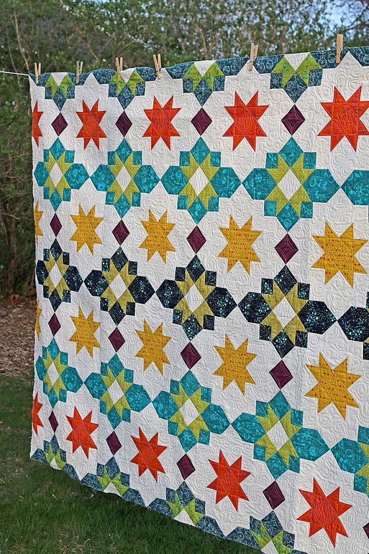 freshly pieced modern quilts another new pattern moroccan  - freshly pieced modern quilts another new pattern moroccan lanterns now onsale