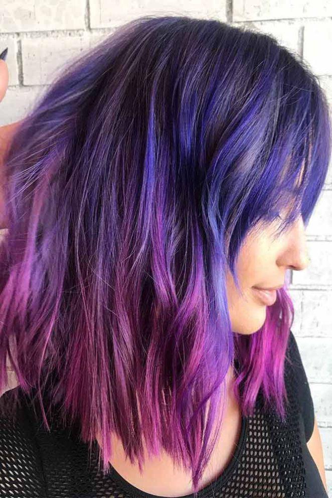 Couleur de cheveux violet 2018