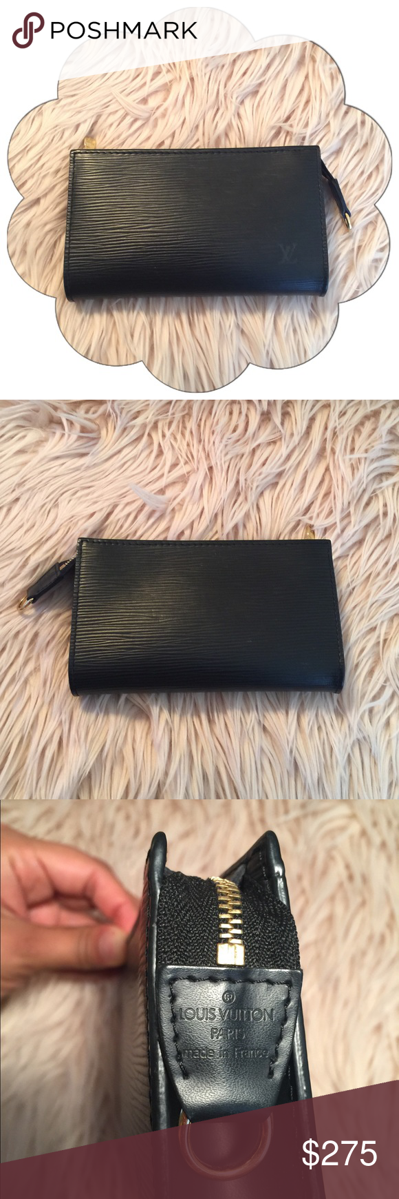 Authentic Louis Vuitton Epi Leather Pouch Leather pouch