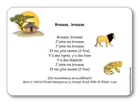 Comptine brousse brousse paroles illustr es imprimer - Animaux de la jungle maternelle ...