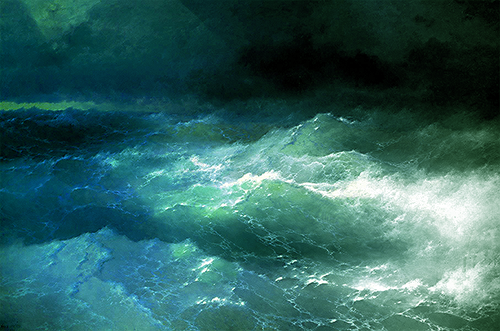 Among the Waves (1898) by Ivan Aivazovsky