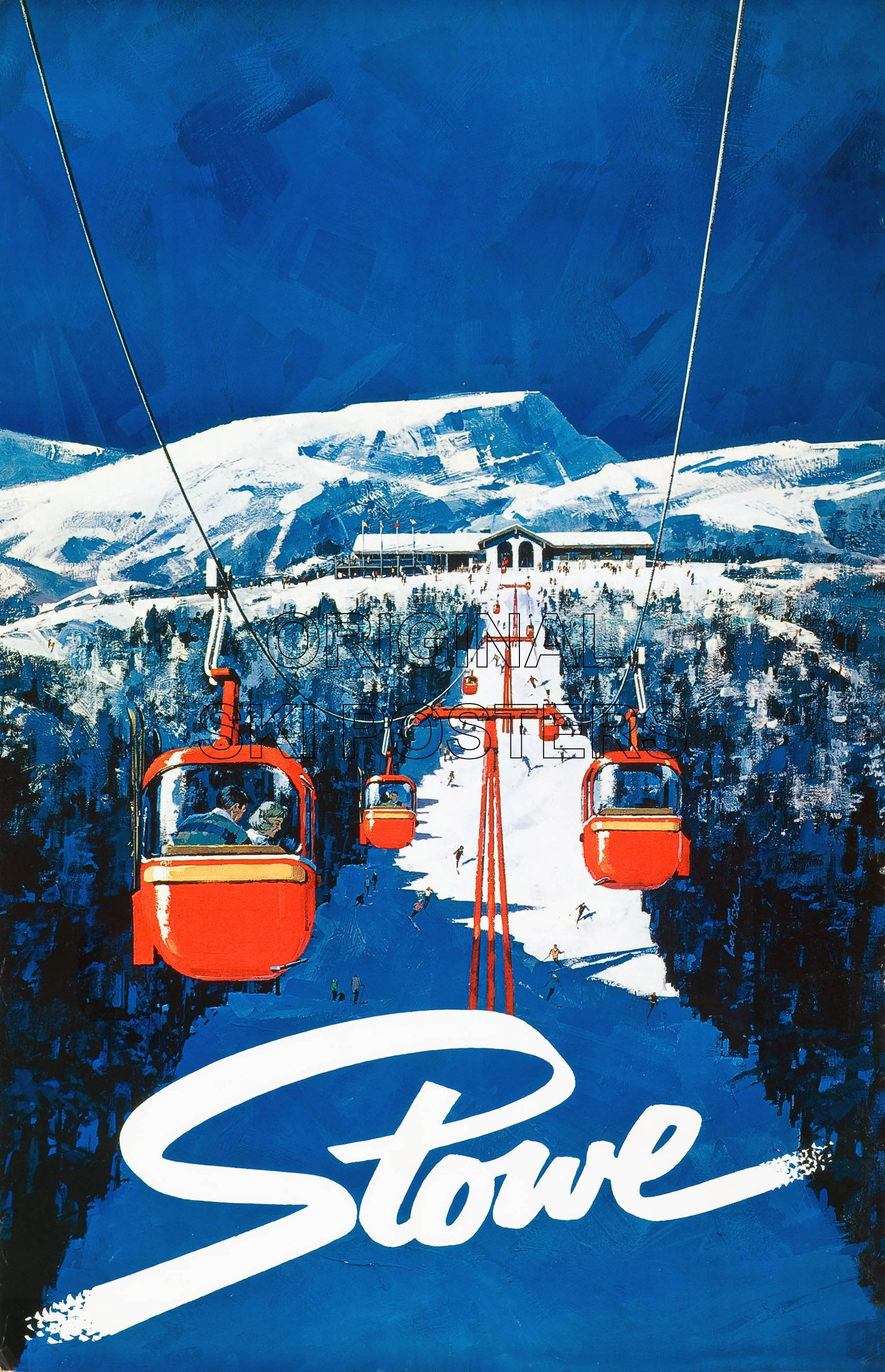 Another Stowe Vermont Vintage Poster We Love These Ski