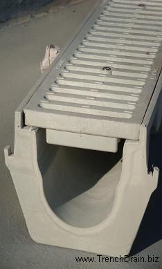 French Drain Channel With Plastic Slotted Grate