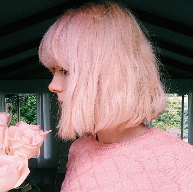Fashionable Bobs Haircut With Pink Color Aliqueenhair Aliqueenmall Pink Pinkcolor Bobhaircut Shorthair Fin Hair Styles Short Hair Styles Pastel Pink Hair