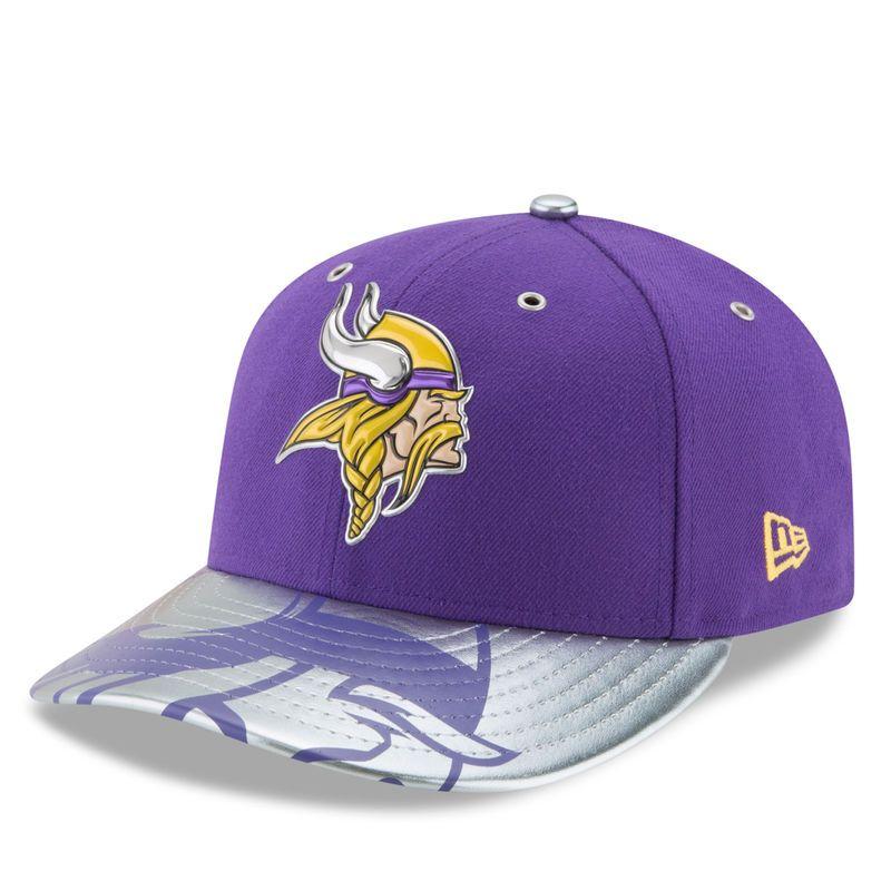9726fe17b Minnesota Vikings New Era 2017 NFL Draft Spotlight Low Profile 59FIFTY Fitted  Hat - Purple