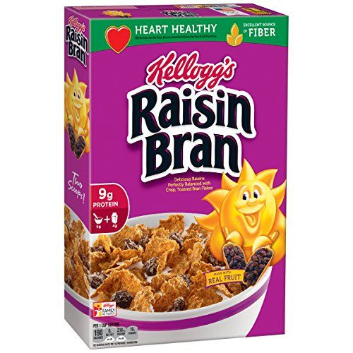 Kellogg's Raisin Bran Cereal | Food | Bran cereal, Raisin