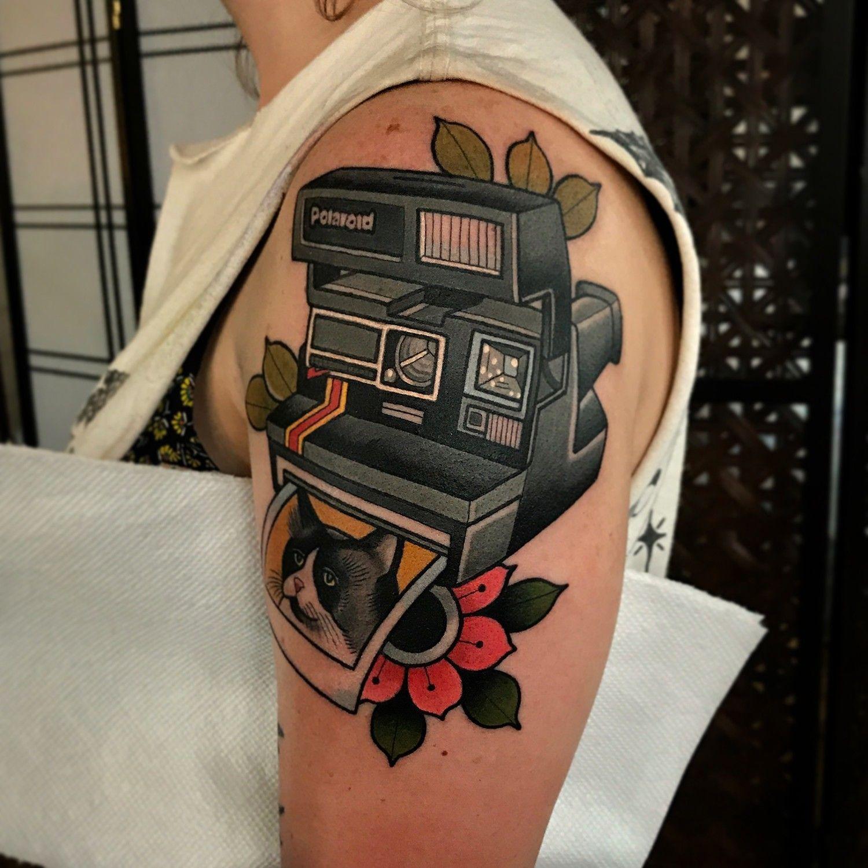Polaroid Camera Tattoo By Dave Wah Humble Tattoo Stay Humble Tattoo Tattoos