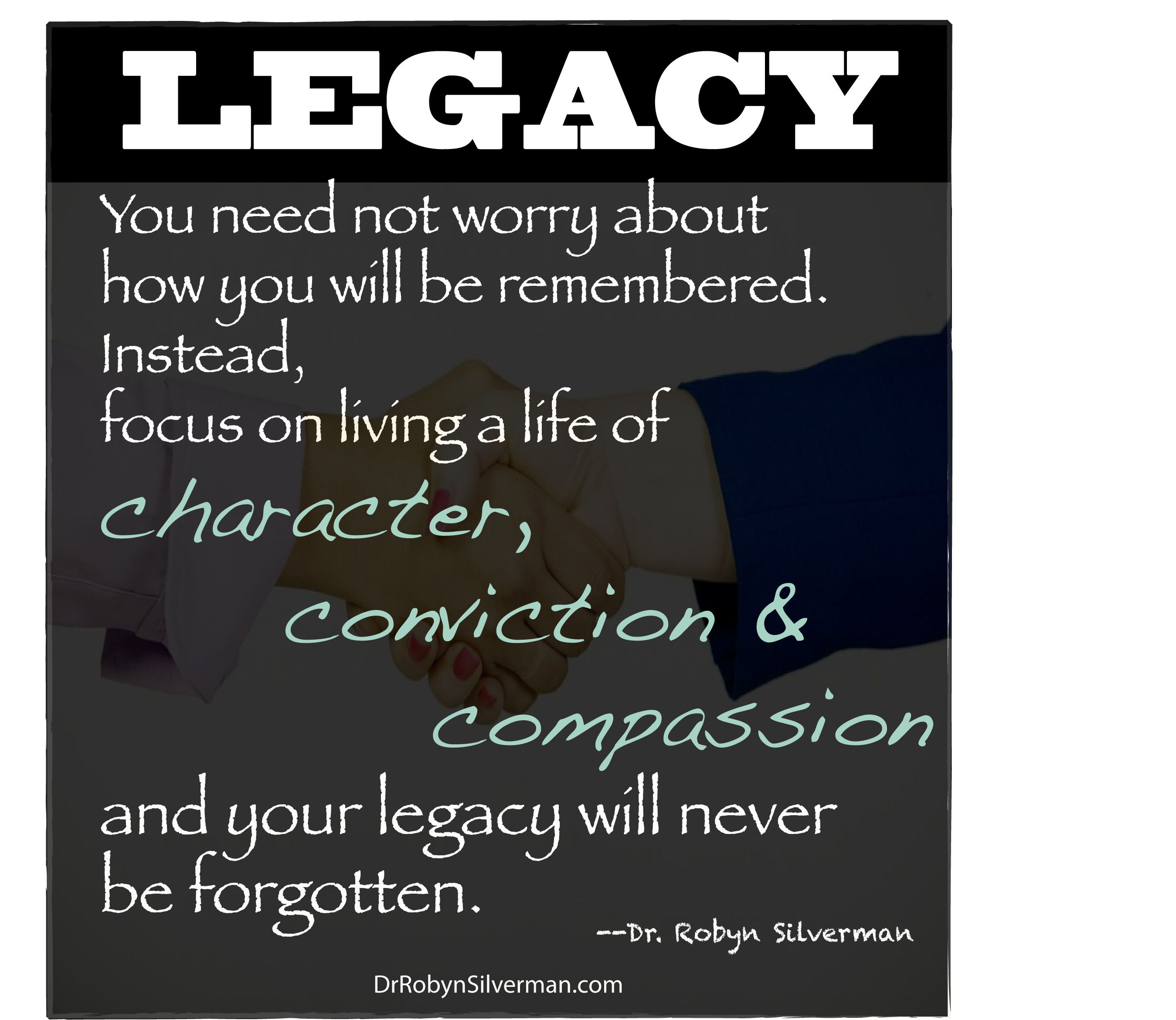 Legacy Quotes: Dr. Robyn J.A. Silverman