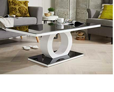 Modern Designer Coffee Table Uk White And Black Glass Contemporary Artistic Unusual Living Room Design Coffee Table