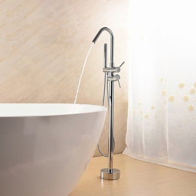 Jade Bath Lory Double Handle Floor Mounted Freestanding Tub Filler
