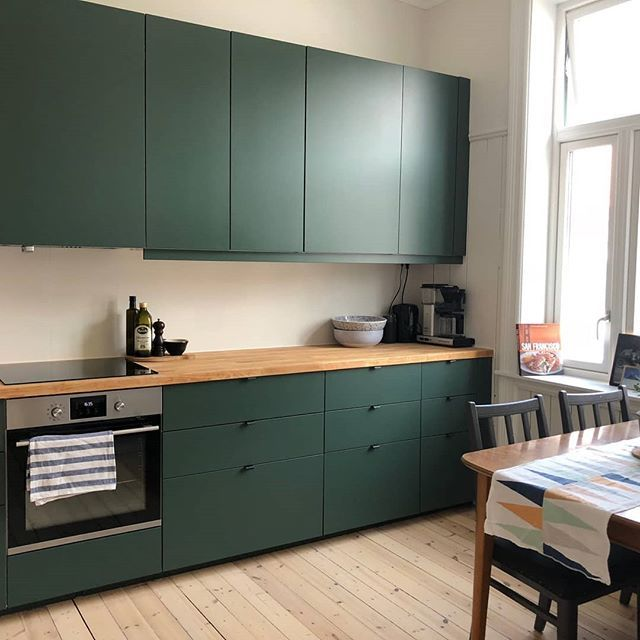 Best Stunning Forest Green Noremax Kitchen Makeover Would 400 x 300