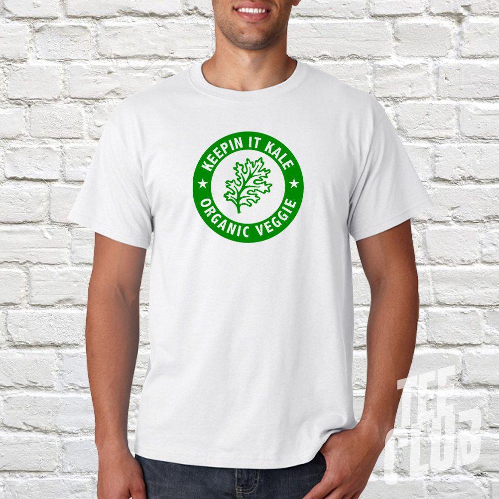 d72f2d57168232 Kale Tshirt for men - healthy eating tshirt - vegan shirt - mens gift tee -  cooking tshirt - blue tee - white tee - black - green tee - by TeeClub on  Etsy