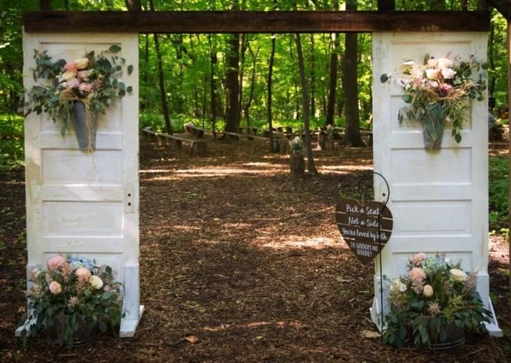 Ceremony doors wooden wedding arches wedding aisle