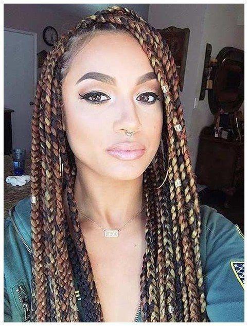 #CornRows #BoxBraiding #HairCut Colorful Brown Box Braids Style click now for info. #boxbraidshaircut #boxbraidstyles