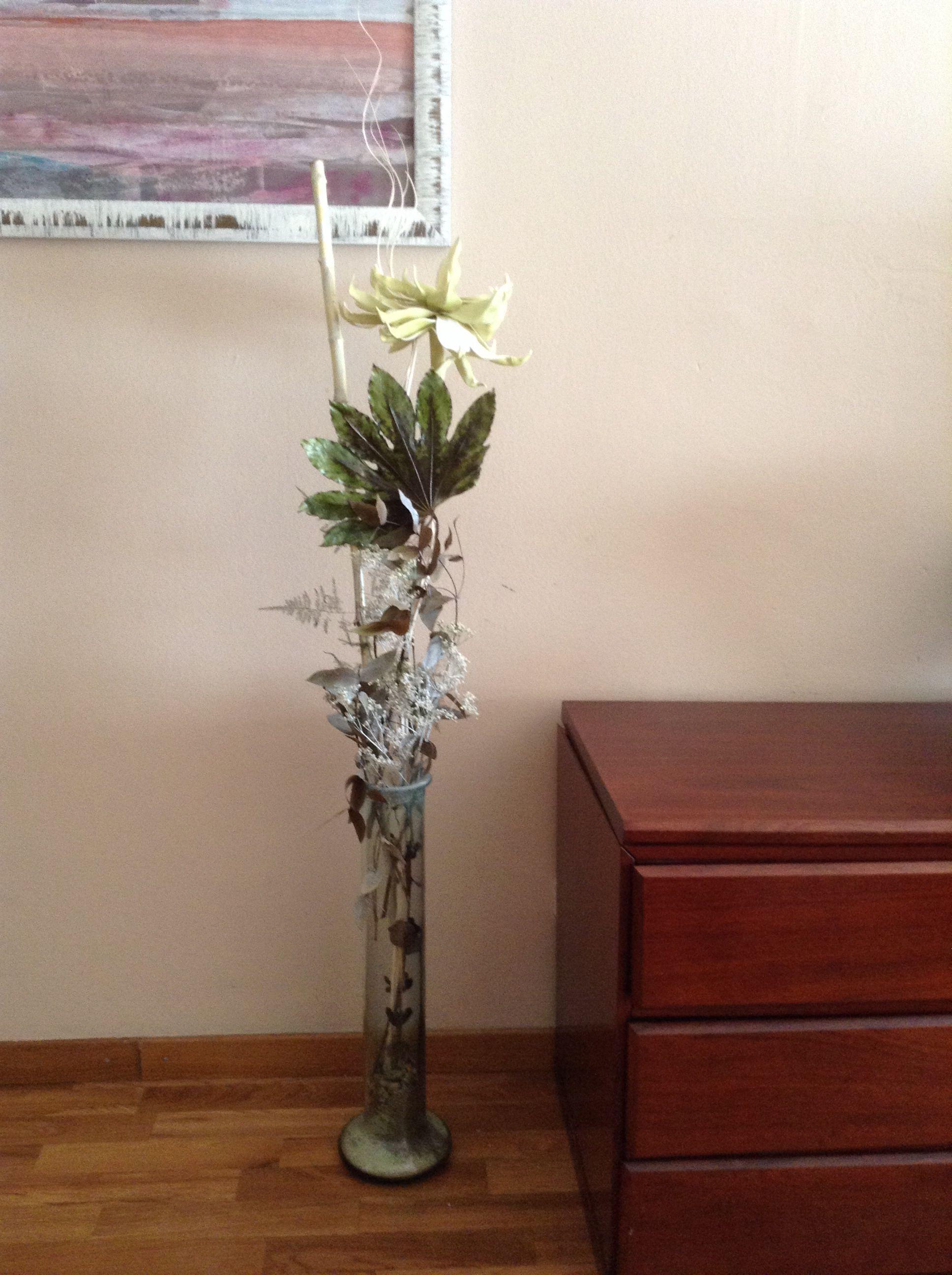 Jarron Con Flores Y Hoja Seca Jarrones Flores Secas Primavera - Jarrones-con-flores-secas