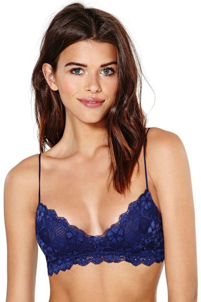 2a53b74138 I discovered this Honeydew Intimates Camilla Lace Bralette - Navy on Keep.  View it now.