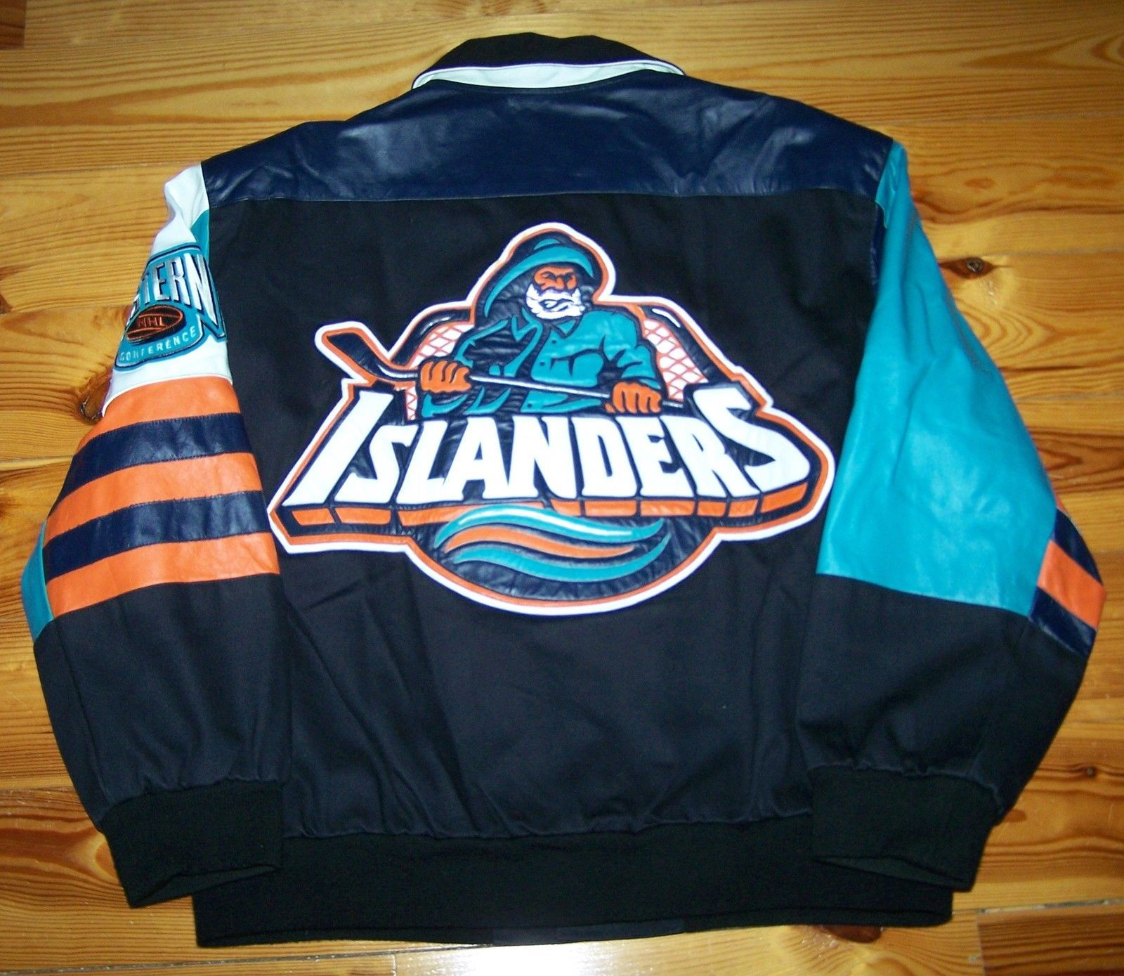 best website ba16b 67750 Vintage Jeff Hamilton NY Islanders Fisherman Leather Accent ...