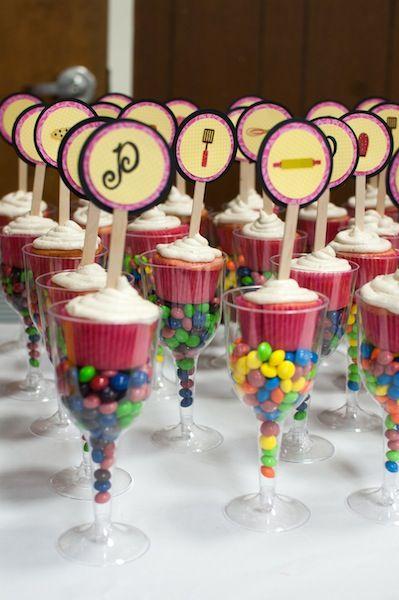 Bridal Shower Cupcake Sticks #bridal #shower #wedding #bridalshowers #weddingshower #cupcakes #cooking