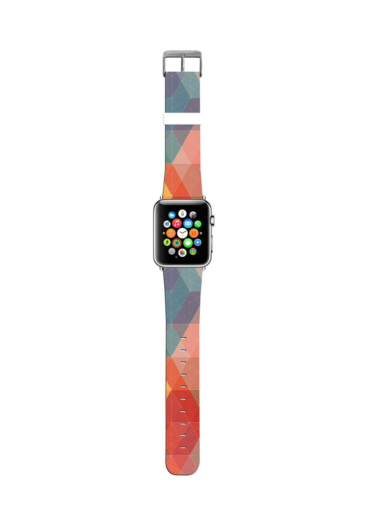 Abstract Colorful Geometric Pattern Apple watch strap