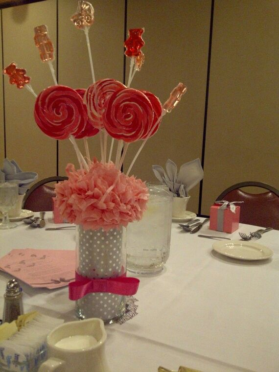Muy lindo centro de mesa para baby shower centros Pinterest - centros de mesa para baby shower