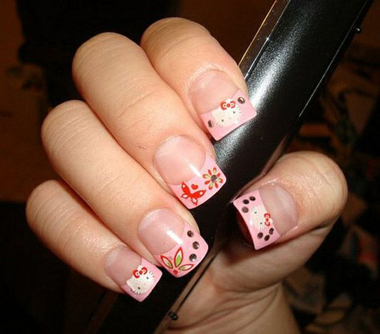 Nail Art Simple Hello Kitty Nail Art Designs Stickers Nail Art