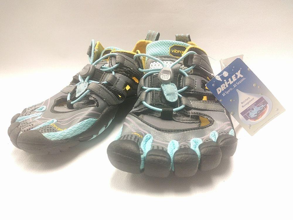 uk availability c0e2b 60239 Vibram FiveFingers Treksport Sandals 13W4304 Gray Aqua Black Running Shoes  Sz 38   Sporting Goods, Fitness, Running   Yoga, Shoes   eBay!