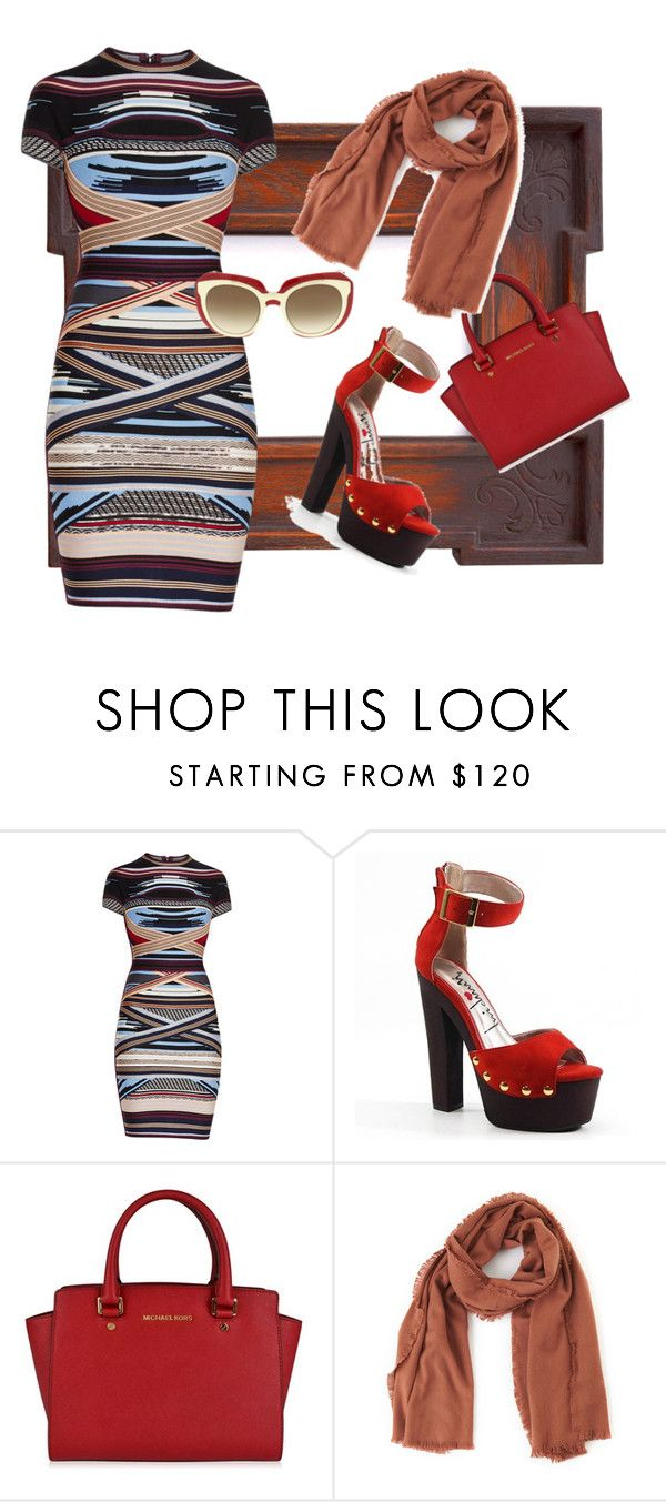 """""""hard working lady"""" by ana-radmilovic ❤ liked on Polyvore featuring Hervé Léger, Luichiny, MICHAEL Michael Kors, TIBI and Dolce&Gabbana"""