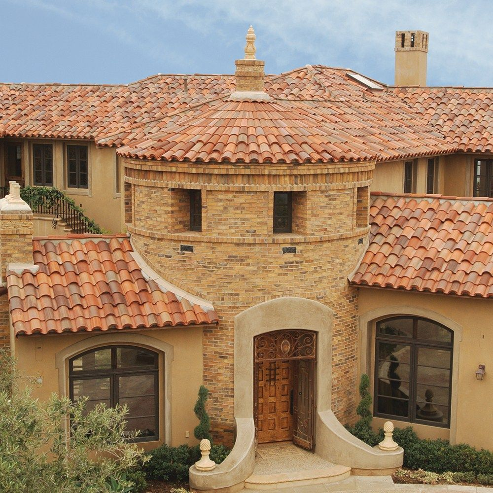 Boral roofing clay tile 1 piece s tile custom blend 10 for Clay tile roofs