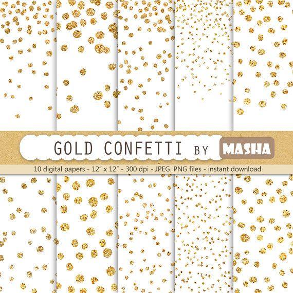 Confetti digital papers \ - confeti