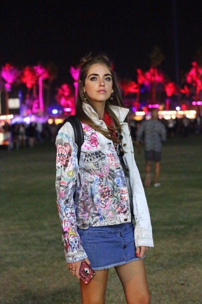 Coachella festival at night