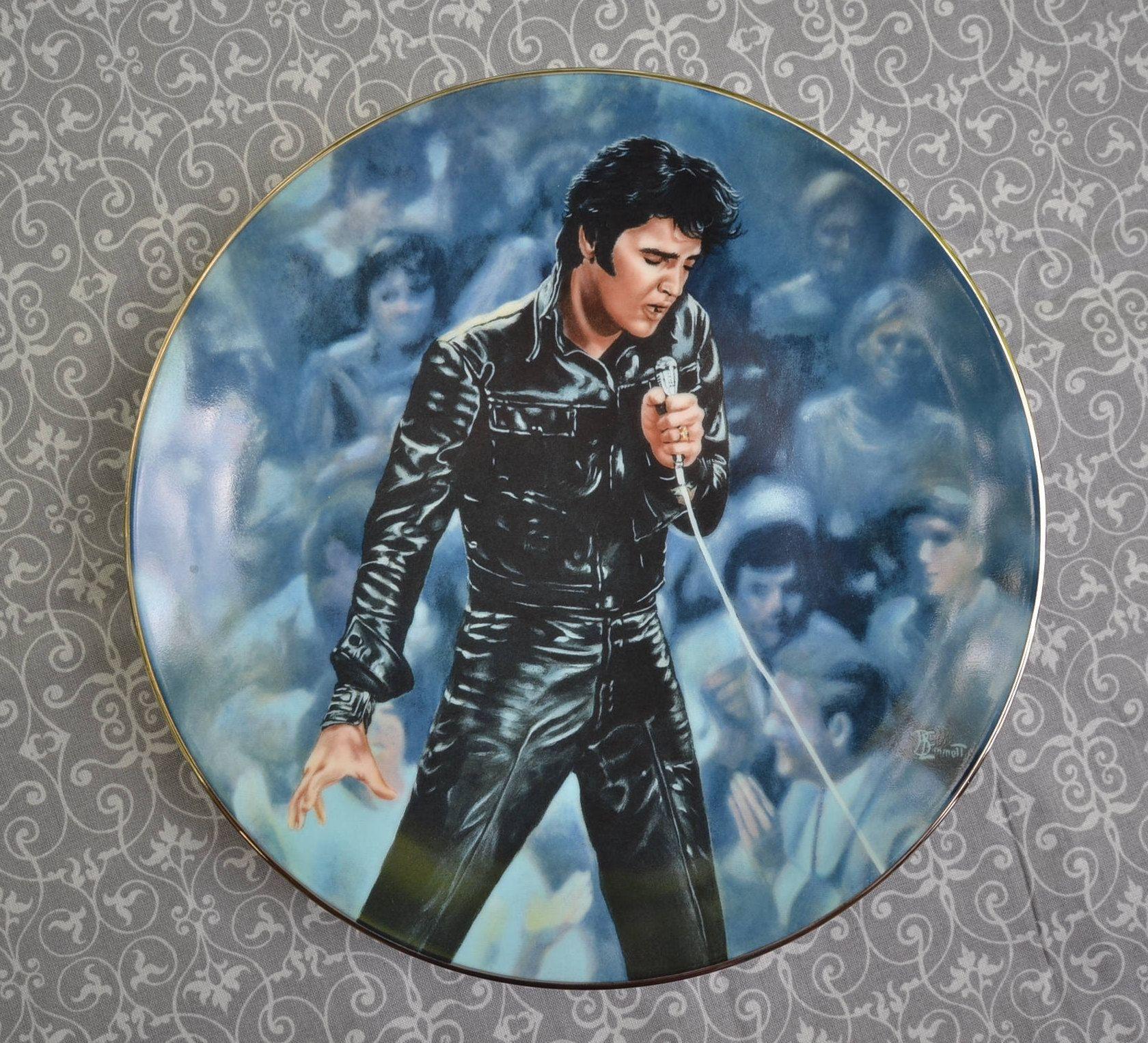 """Vintage Elvis Presley BradEx Collectors Plate """" 68 eback Special"""