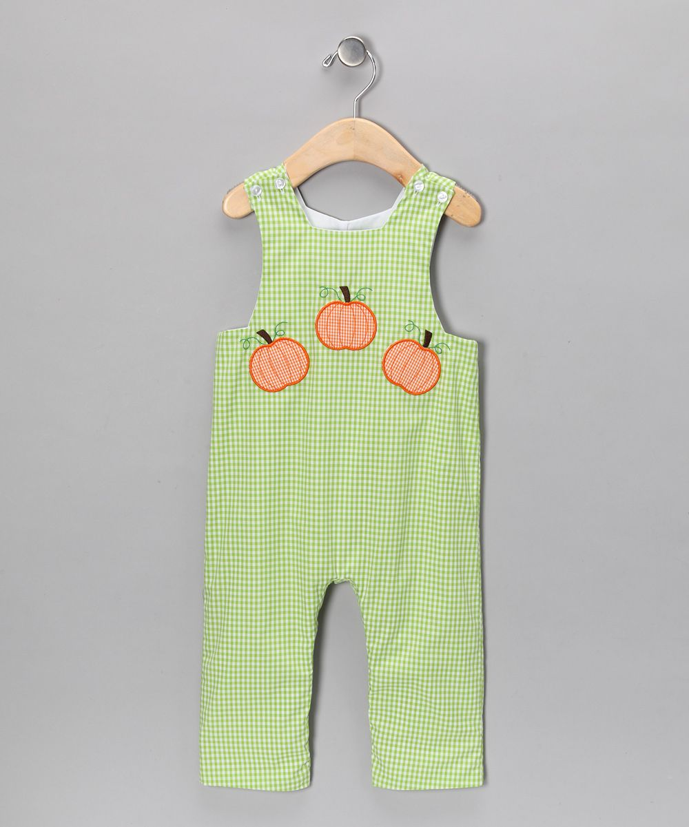 Green Pumpkin Overalls - Infant & Toddler | Daily deals for moms, babies and kids