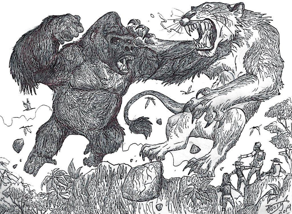 признаётся раскраска горилла с динозавром поможет вам создавать