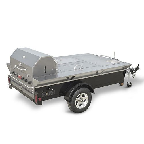 Crown Verity Towable Grill TG-4-LP with 2 Insulated Storage Compartmen
