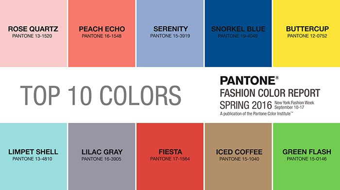 Pantone's 2016 Color Trend Report Color Combos And Pantone