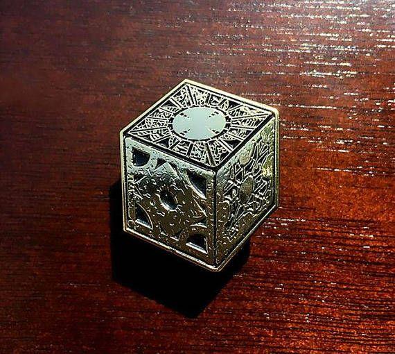 Hellraiser Puzzle Box Enamel Pin | The Lament Configuration | Pinhead | Horror  Movie | Lapel Pin | Denim Jacket Gift