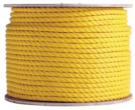 3 Strand Yellow Polypropylene Rope Polypropylene Poly Rope Marine Rope